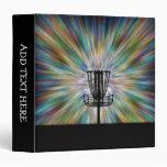 Disc Golf Basket Silhouette 3 Ring Binder