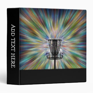 Disc Golf Basket Silhouette 3 Ring Binder