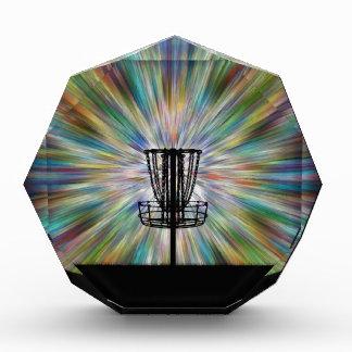 Disc Golf Basket Silhouette Acrylic Award