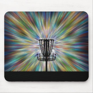 Disc Golf Basket Silhouette Mouse Pad