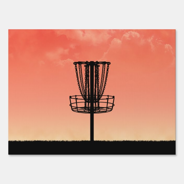 Disc Golf Basket Silhouette Sign Zazzle Com