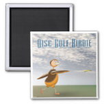 Disc Golf Birdie 2 Inch Square Magnet