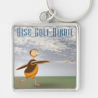 Disc Golf Birdie Keychain