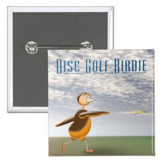 Disc Golf Birdie Pinback Button