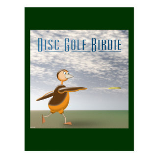 Disc Golf Birdie Postcard