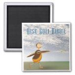 Disc Golf Birdie Refrigerator Magnet