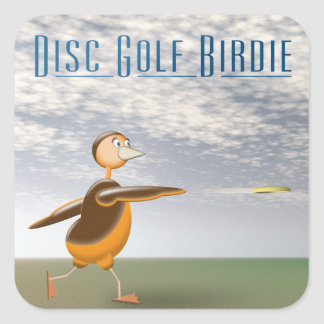 Disc Golf Birdie Square Sticker