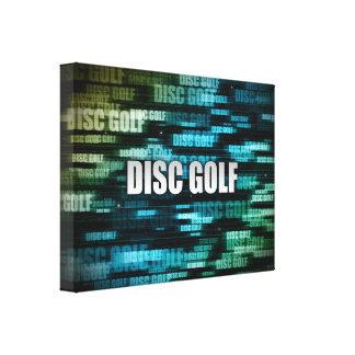 Disc Golf Canvas Print