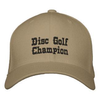 Disc golf champion ball cap hat