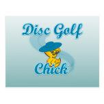Disc Golf Chick #3 Postcard