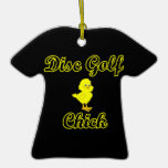 Disc Golf Chick Christmas Tree Ornament