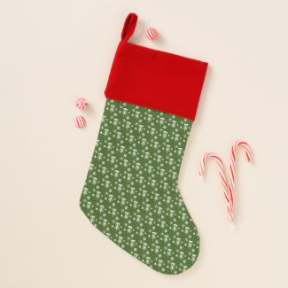 Disc Golf Christmas Stocking - Green