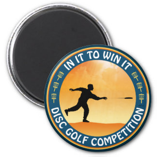 Disc Golf Competition 2 Inch Round Magnet