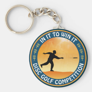 Disc Golf Competition Keychain