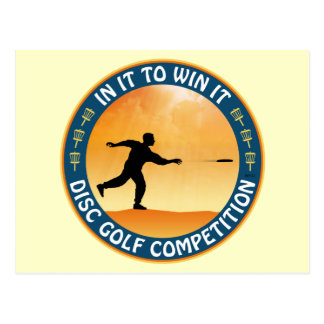 Disc Golf Competition Postcard