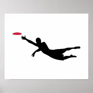 Disc golf frisbee poster
