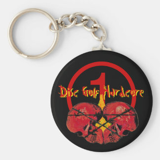 Disc Golf Hardcore Keychain