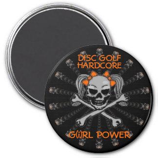 DISC GOLF HARDCORE 3 INCH ROUND MAGNET