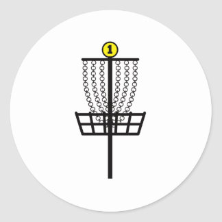 Disc Golf Hole Classic Round Sticker