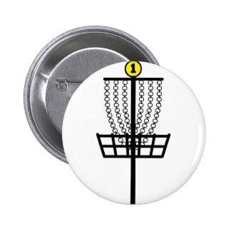 Disc Golf Hole Pinback Button