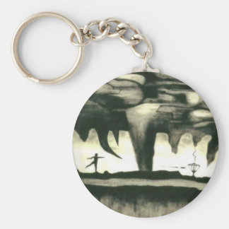 Disc Golf Key Chain--Bag Tag Hypnotic and Moving Keychain