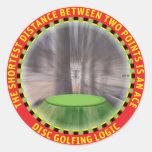 Disc Golf Logic #1 Classic Round Sticker