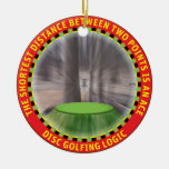 Disc Golf Logic #1 Double-Sided Ceramic Round Christmas Ornament