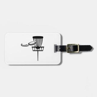Disc golf luggage tag
