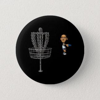 Disc Golf Pinback Button