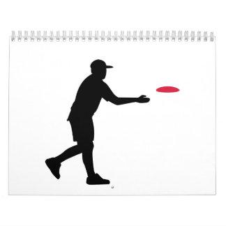Disc golf player calendars