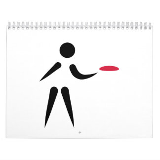Disc golf player wall calendar