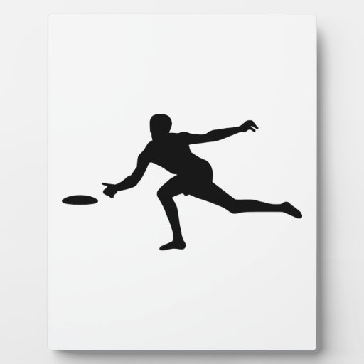 Disc golf player display plaques