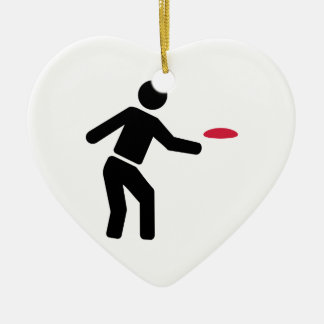 Disc golf player christmas tree ornaments