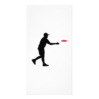 Disc golf player customized photo card