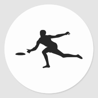 Disc golf player stickers