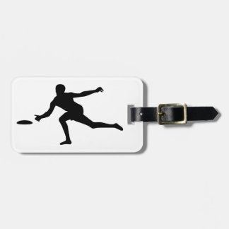 Disc golf player tag for luggage