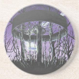 disc golf sandstone coaster