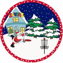 Disc Golf Santa Ornament