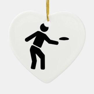 Disc golf sports ceramic ornament