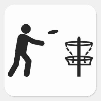 Disc Golf Square Sticker