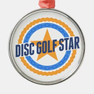 Disc Golf Star Metal Ornament