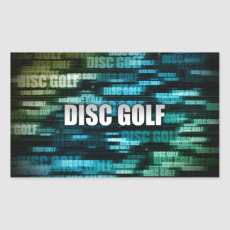 Disc Golf Rectangle Stickers