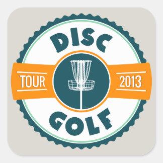 Disc Golf Tour 2013 Square Sticker