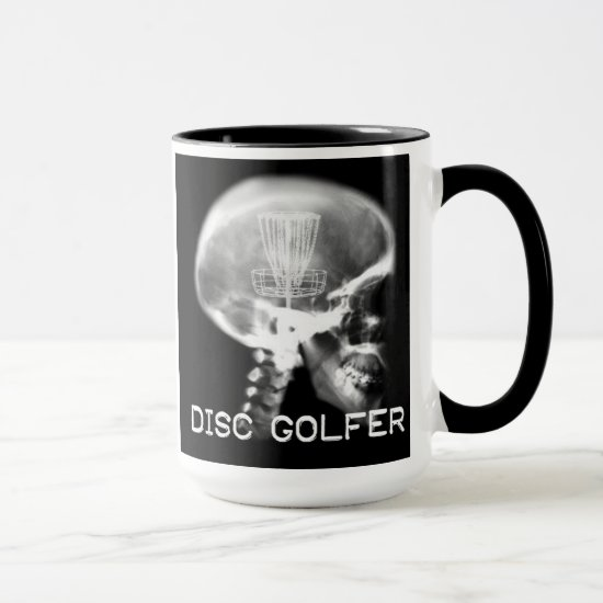disc golf x ray mug