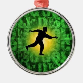 Disc Golfer Metal Ornament