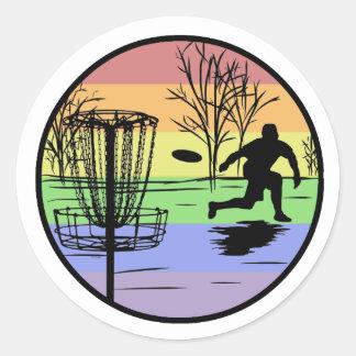 Disc Golfing Classic Round Sticker