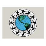 Disc Golfing Planet Earth Postcard