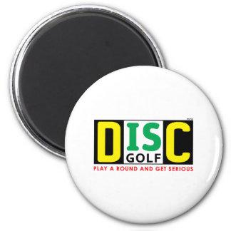 Disc Is Golf 2 Inch Round Magnet