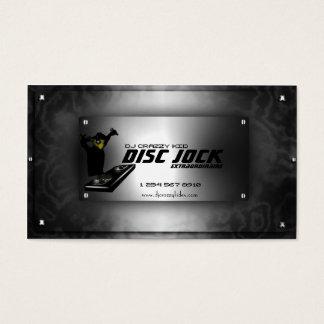 Disc Jock DJ Business Card Template