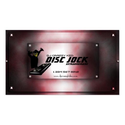 Disc jock dj business card template zazzle for Dj business card template